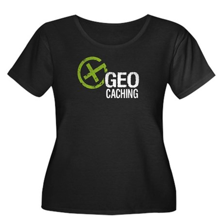 Geocaching Green Grunge Women's Plus Size Scoop Ne