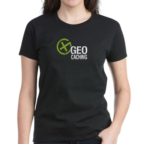 Geocaching Green Grunge Women's Dark T-Shirt