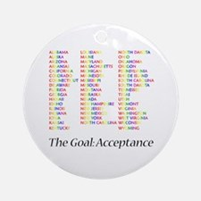Homosexuality Acceptance Ornament (Round)