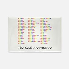 Homosexuality Acceptance Rectangle Magnet