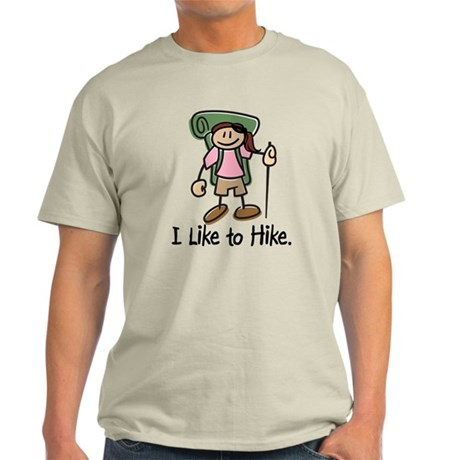 I Like To Hike Girl (Green) Light T-Shirt