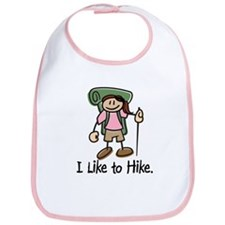 I Like To Hike Girl (Green) Bib
