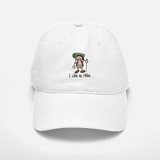 I Like To Hike Girl (Green) Baseball Baseball Cap