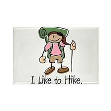 I Like To Hike Girl (Green) Rectangle Magnet