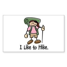 I Like To Hike Girl (Green) Decal