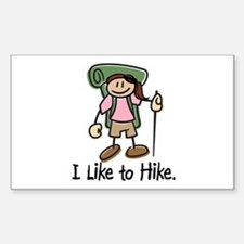 I Like To Hike Girl (Green) Decal