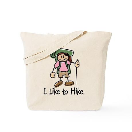 I Like To Hike Girl (Green) Tote Bag