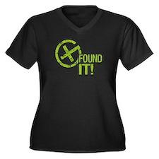 Geocaching FOUND IT! green Grunge Women's Plus Siz