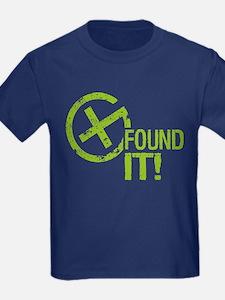 Geocaching FOUND IT! green Grunge T