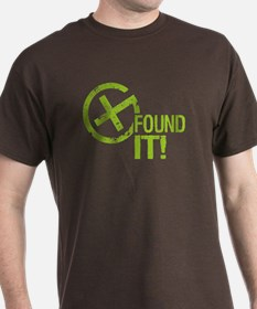 Geocaching FOUND IT! green Grunge T-Shirt