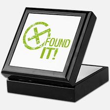 Geocaching FOUND IT! green Grunge Keepsake Box