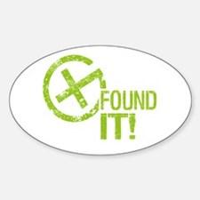 Geocaching FOUND IT! green Grunge Decal