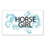 Horse Girl Sticker (Rectangle 50 pk)
