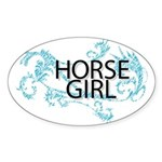 Horse Girl Sticker (Oval 10 pk)