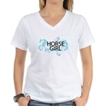 Horse Girl Women's V-Neck T-Shirt