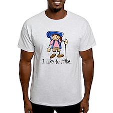 I Like To Hike Girl (Blue) T-Shirt