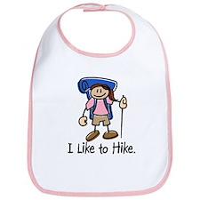 I Like To Hike Girl (Blue) Bib