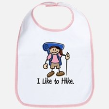 I Like To Hike Girl (Blue) Bib