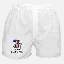 I Like To Hike Girl (Blue) Boxer Shorts