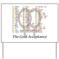 Lesbian Marriage Acceptance Yard Sign