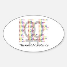 Lesbian Marriage Acceptance Decal