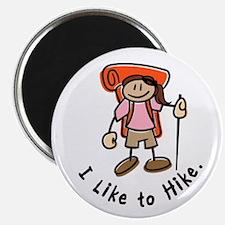 I Like To Hike Girl (Orange) Magnet