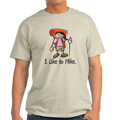 I Like To Hike Girl (Orange) Light T-Shirt