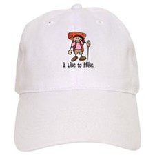 I Like To Hike Girl (Orange) Baseball Baseball Cap