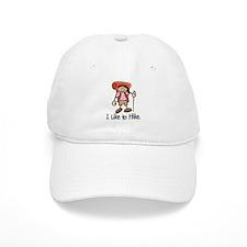 I Like To Hike Girl (Orange) Baseball Cap