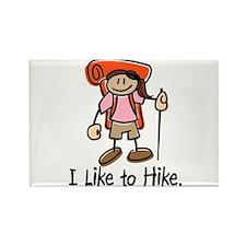 I Like To Hike Girl (Orange) Rectangle Magnet