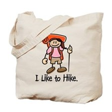 I Like To Hike Girl (Orange) Tote Bag