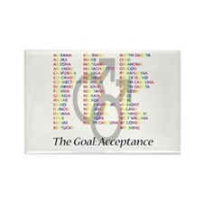 Acceptance of Gay Marriage Rectangle Magnet