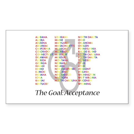 Acceptance of Gay Marriage Sticker (Rectangle)