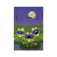 Loony Frogs Art Rectangle Magnet