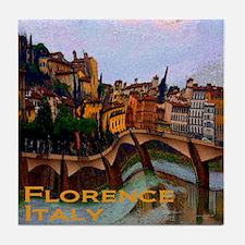 Wacky Travel - Florence Italy Tile Coaster