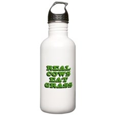 Real Cows Eat Grass Water Bottle