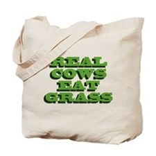 Real Cows Eat Grass Tote Bag