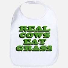 Real Cows Eat Grass Bib