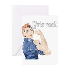 Girls Rock! (vintage) Greeting Card