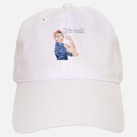 Girls Rock! (vintage) Baseball Baseball Cap