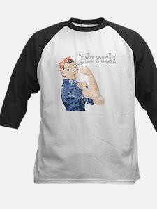 Girls Rock! (vintage) Kids Baseball Jersey