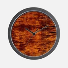 Hawaiian Koa Wood Wall Clock hawaiian time style