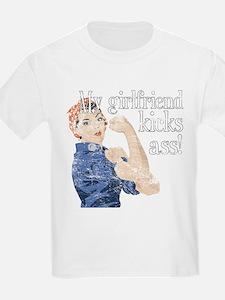 My girlfriend kicks ass T-Shirt