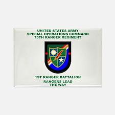 1st Ranger Battalion Flash Rectangle Magnet