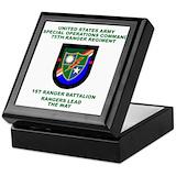 1st ranger battalion Keepsake Boxes