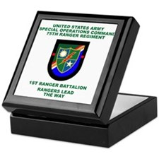 1st Ranger Battalion Flash Keepsake Box