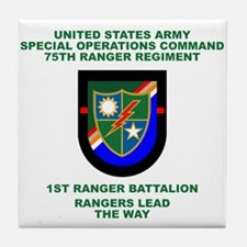 1st Ranger Battalion Flash Tile Coaster