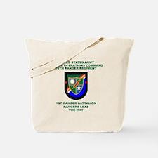 1st Ranger Battalion Flash Tote Bag