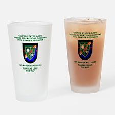 1st Ranger Battalion Flash Pint Glass