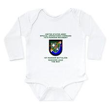 1st Ranger Battalion Flash Long Sleeve Infant Body
